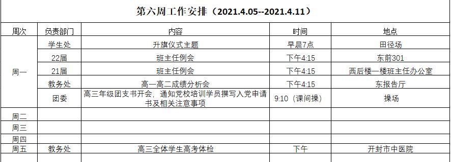 开封高中第六周工作安排(2021.4.05--2021.4.11).png